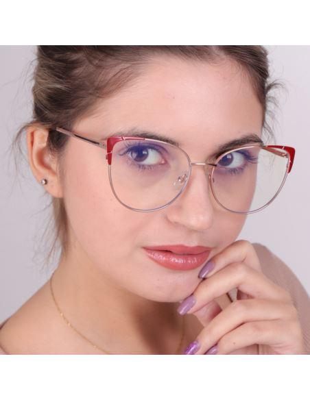 Damskie owalne okulary lustrzane retro matowe