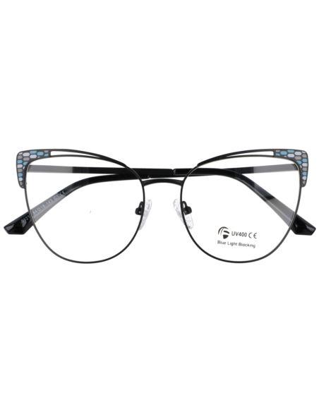 Okulary damskie lustrzanki Flat Glass srebrne