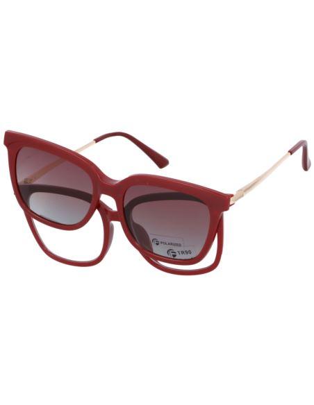 Owalne okulary przeciwsłoneczne vintage 1468 Srebr