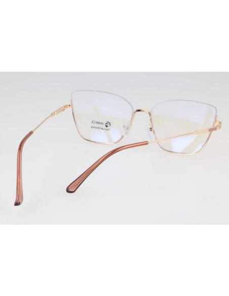 Okulary lustrzane aviator flat glass 1565 Srebrny