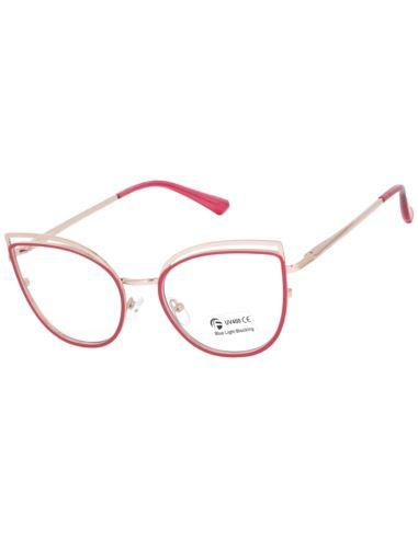 Okulary damskie kocie oczy brązowe 1588-2