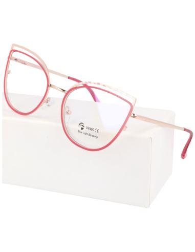 Okulary damskie kocie oczy panterka 1588-3