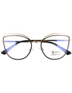 Okulary damskie cat eye 1594 Brązowy