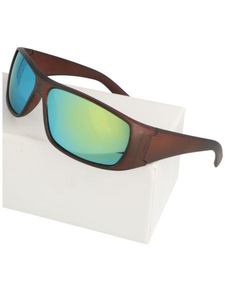 Lustrzane okrągłe okulary 1620 Niebieski