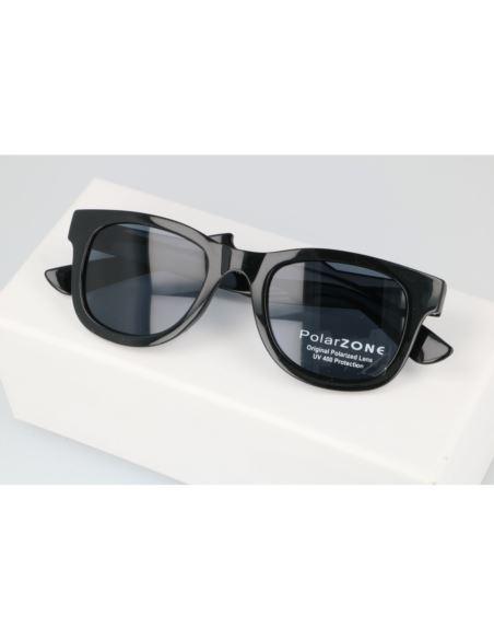 Lustrzane okulary damskie serca blue 1287/6