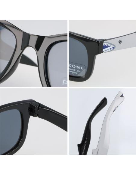 Lustrzane okulary damskie serca gold-green 1287/8