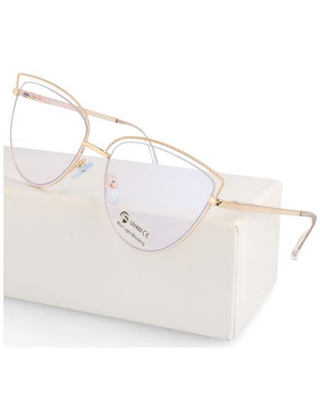 Damskie okulary zerówki Clubmaster szare 0067 hurt