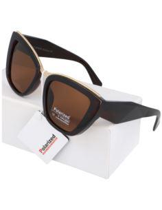 Okulary damskie lustrzane oversize geometric 1788