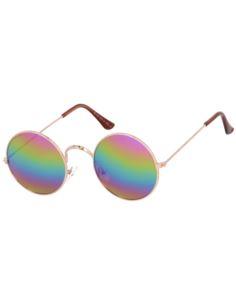 Metalowe okulary zerówki pilotki oversize 2031