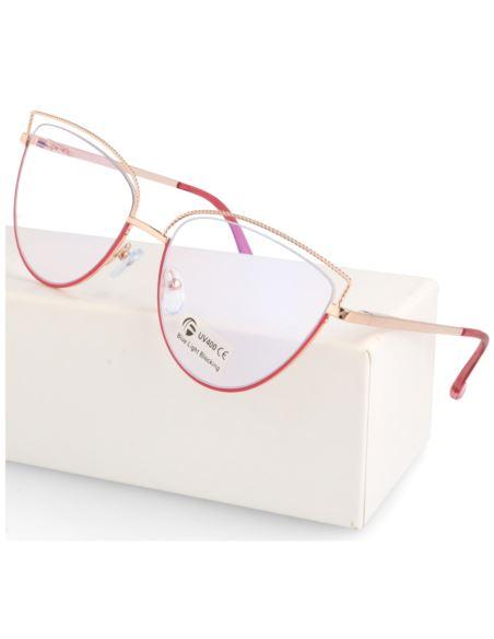 Damskie okulary zerówki Clubmaster 0071 hurt