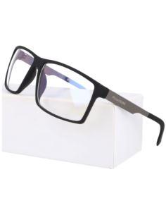 Damskie okulary zerówki metalowe brązowe 2263
