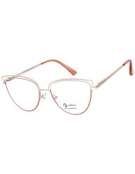 Okulary damskie cat eye antyreflex 0074 hurt