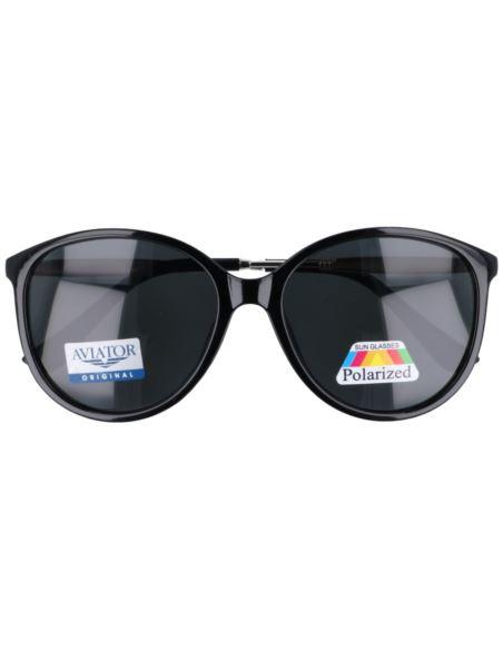 Okulary zerówki oversize z antyrefleksem srebrne