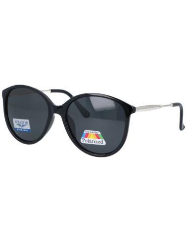 Okulary zerówki oversize z antyrefleksem złote
