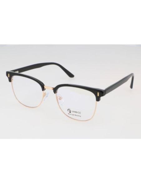 Damskie OWALNE okulary ZERÓWKI z antyrefleksem mat
