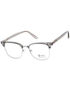 Owalne metalowe okulary zerówki z antyrefleksem